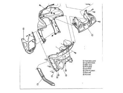 Embellecedor chasis derecho HYOSUNG CRUISE 125 1999-2004
