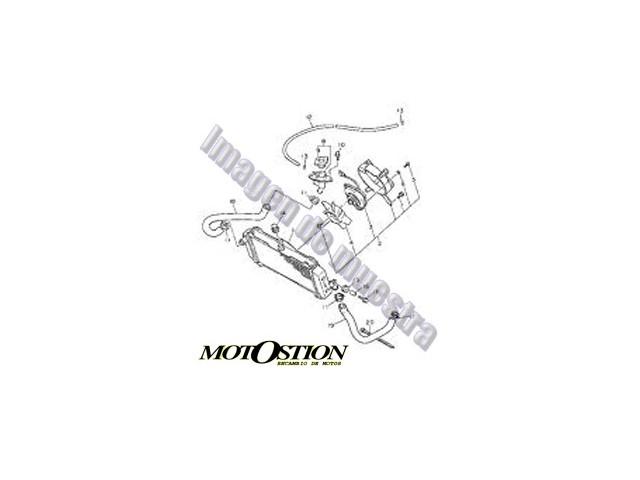 Radiador agua izquierdo BMW K 1200 RS 1200 1997-2000 moto