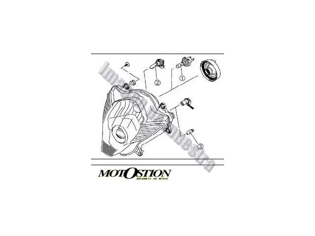 Caña acelerador plastico DAELIM ROADWIN 125 2012-2015