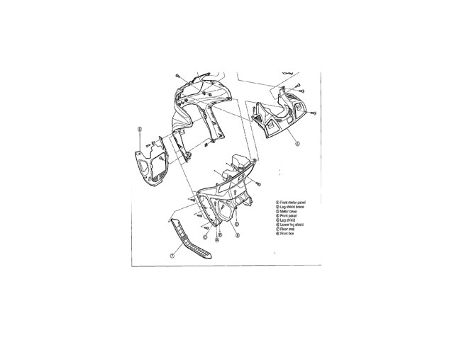 Embellecedor chasis derecho negro HYOSUNG AQUILA 650 2004
