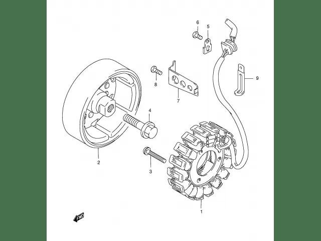 Reparación de Volante Magnético o Rotor de Suzuki