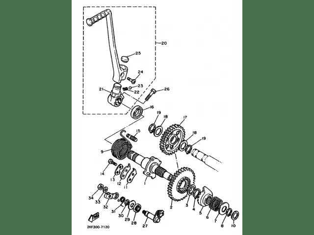 Pedal de arranque YAMAHA XT 600 1984-1989 desguace motos