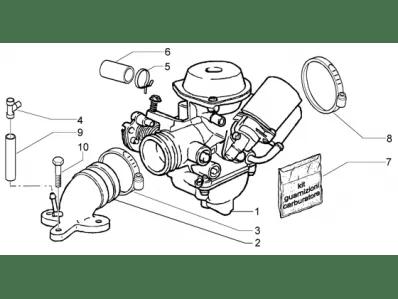 Bateria carburadores Piaggio X9 125 evo 125 2003-2007