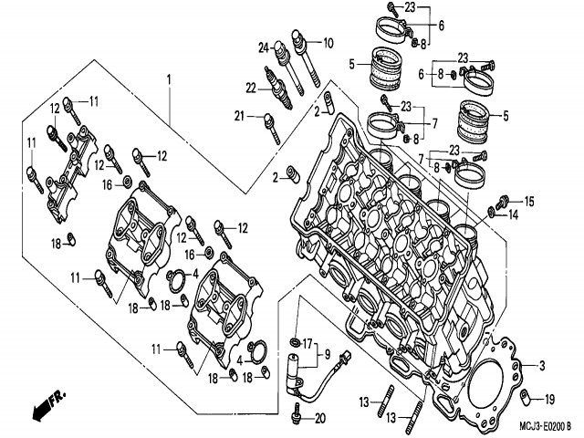 Honda Cbr 900 Rr Fireblade 929cc 2000 2002 Manuale Servizio Officina