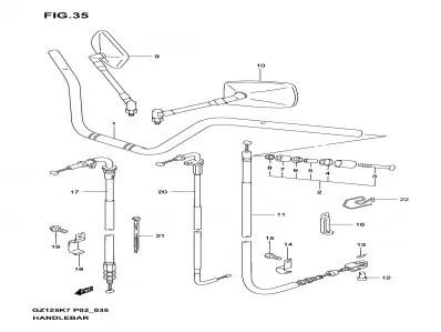 Contrapeso Suzuki marauder 125 1998-2004