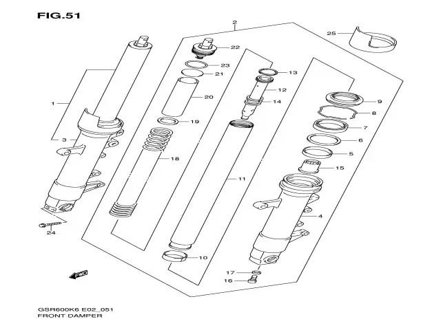 Tapon hidraulico Suzuki gsr 600 2006-2008
