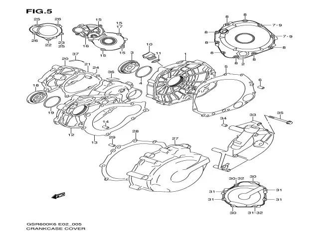 Tapa motor arranque Tapa motor arranque Suzuki GSR y GSX