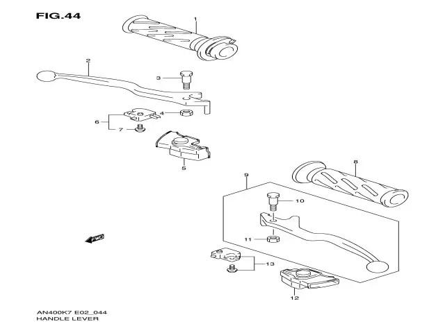 interruptor freno delantero Suzuki burgman 400 2007-2013