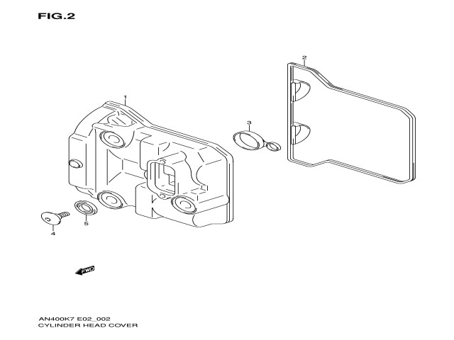 Tapa balancines de motor Suzuki burgman 400 2007-2013