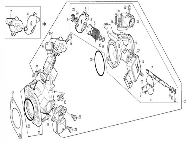 inyector suelto Daelim roadwin 125r fi 125 2007-2011