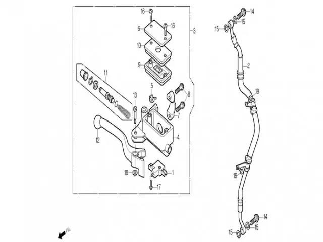 interruptor freno delantero Daelim roadwin 125r fi 125