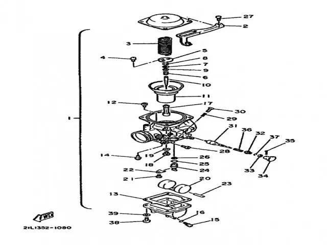 Bateria carburadores Yamaha Sr 250 1980-1989