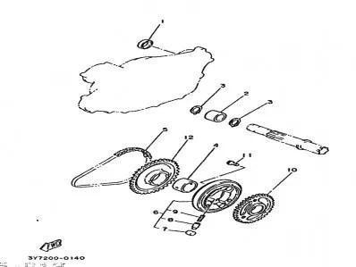 Bendix de arranque Yamaha Sr 250 1980-1989