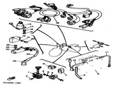 Sistema electrico completo Yamaha Sr 250 1980-1989