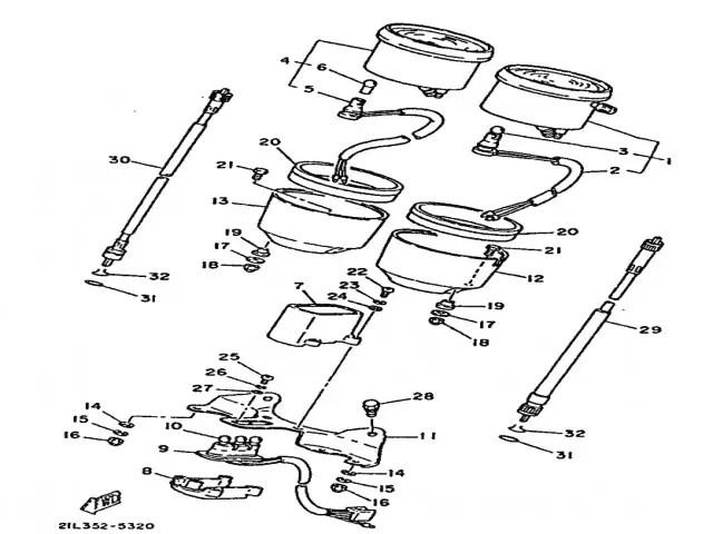 Cable cuenta vueltas Yamaha Sr 250 1980-1989