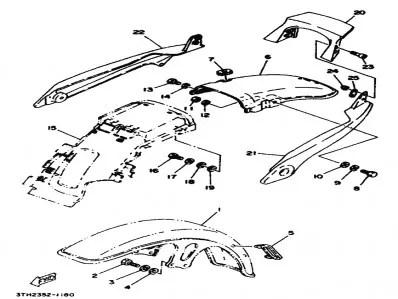 Asidero colin izquierdo Yamaha Sr 250 1980-1989