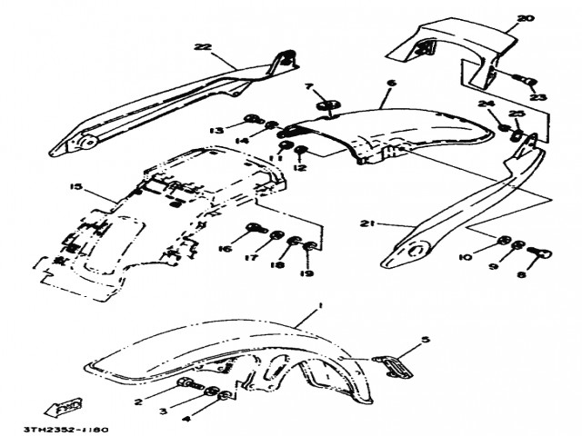 Aleta trasera cromada Yamaha Sr 250 1980-1989