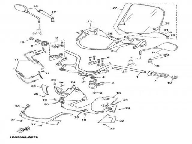 Retrovisor izquierdo Yamaha Xmax 125 2006-2010