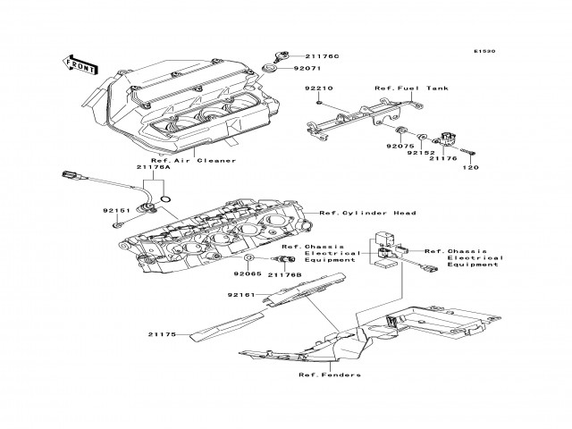 Sensor temperatura sistema refrigeración Kawasaki Zx6r 600