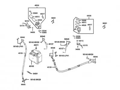 Interruptor freno delantero Kymco Super dink 300 2009-2012