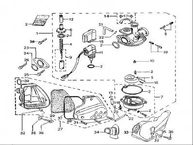 Bateria carburadores Peugeot Elyseo 50 1999-2006