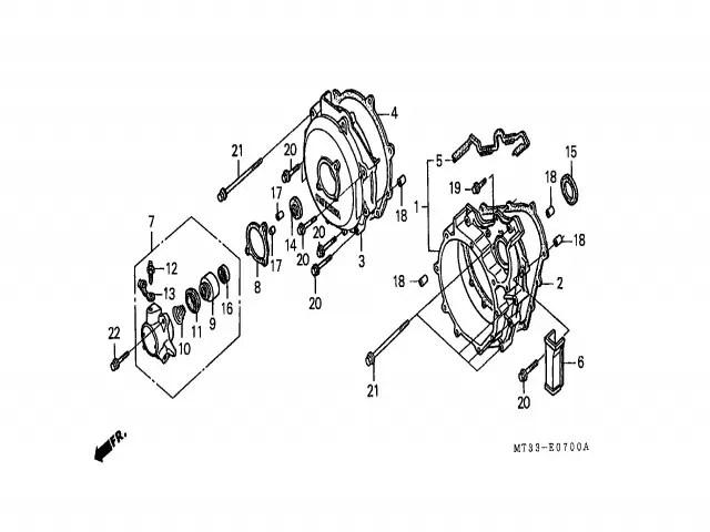 Bombin embrague Honda Vfr 750 1990-1993