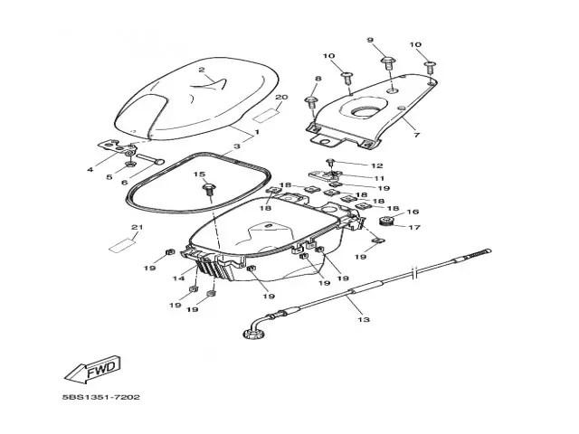 Mecanismo de asiento Yamaha Aerox 50 1997-2006