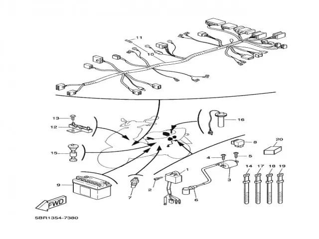 Sistema electrico completo Yamaha Aerox 50 1997-2006