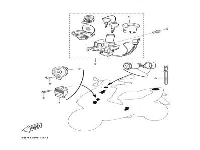 Rele de intermitencia Yamaha Aerox 50 1997-2006