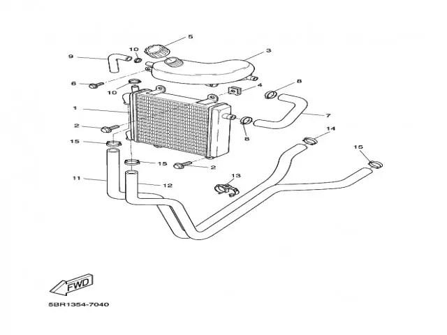 Radiador agua Yamaha Aerox 50 1997-2006