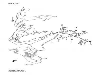 Carenado superior inferior Suzuki Burgman 400 2007-2013