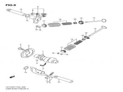 Balancines de motor Suzuki Burgman 125 2007-2009