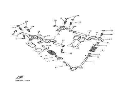 Pack balancines admision Yamaha Xtz 660 1991-1994
