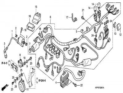 Rele de intermitencia Honda Cbr r 125 2008-2009
