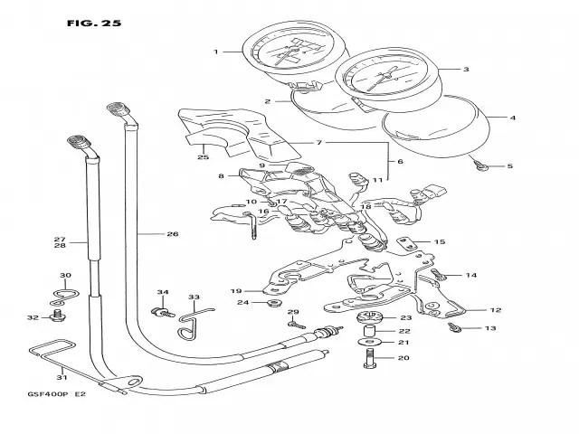 Cable cuenta kilometros Suzuki Bandit 400 1991-1993