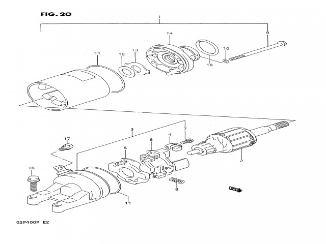 Motor arranque Suzuki Bandit 400 1991-1993