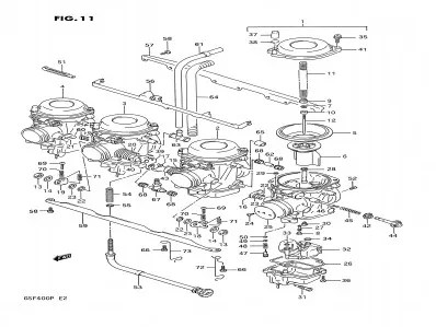 Bateria carburadores Suzuki Bandit 400 1991-1993