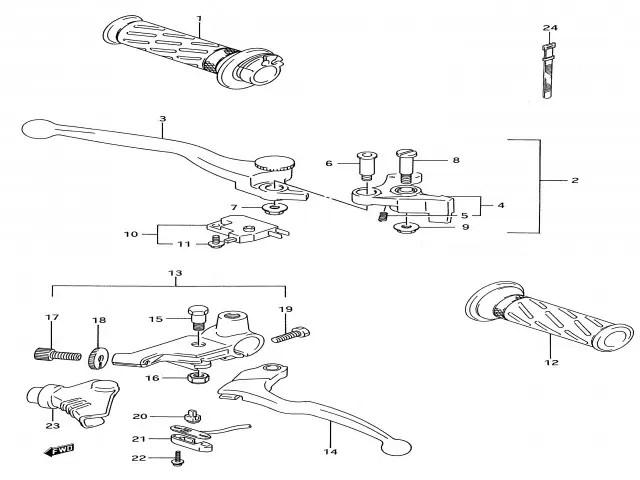 Interruptor maneta de embrague Suzuki Gs e 500 1989-2001