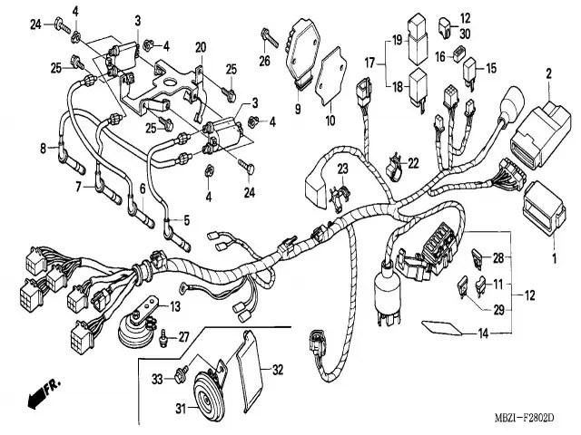 Regulador de corriente para motos Honda