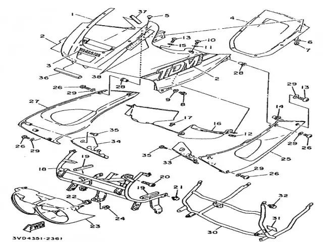 Carcasa faro Yamaha Tdm 850 1991-1995