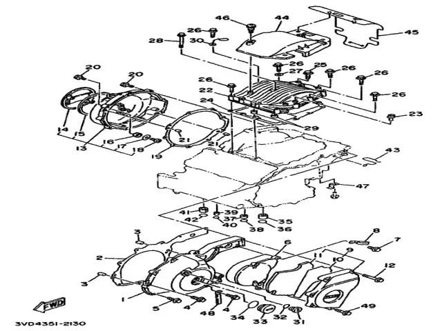 Tapa encendido de motor Yamaha Tdm 850 1991-1995