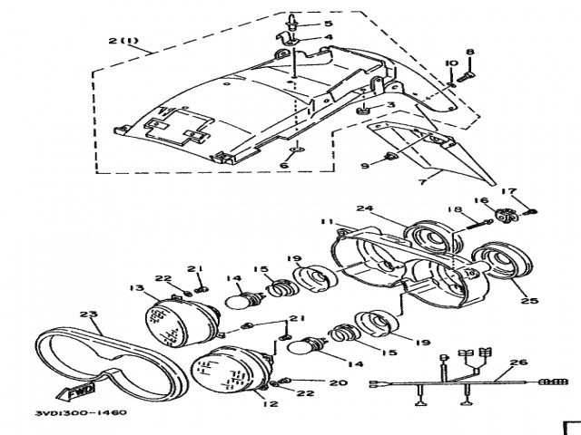 Aleta porta matricula Yamaha Tdm 850 1991-1995
