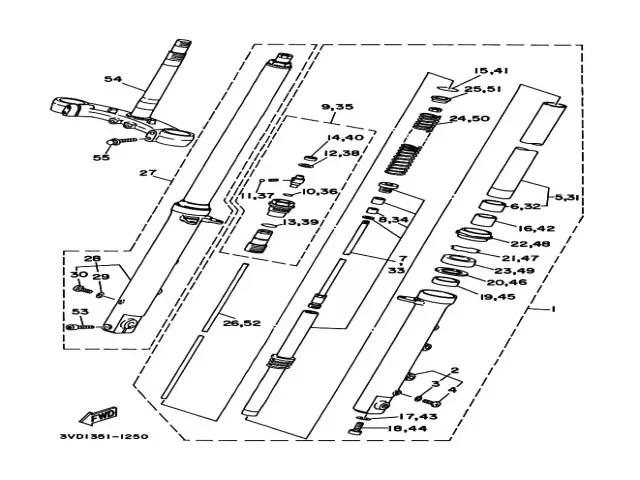 Tija inferior Yamaha Tdm 850 1991-1995