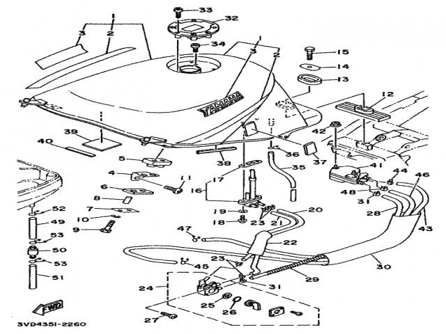 Bomba gasolina mecanica Yamaha Tdm 850 1991-1995