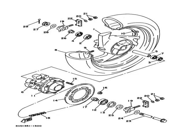 Tensor basculante Yamaha Tdm 850 1991-1995