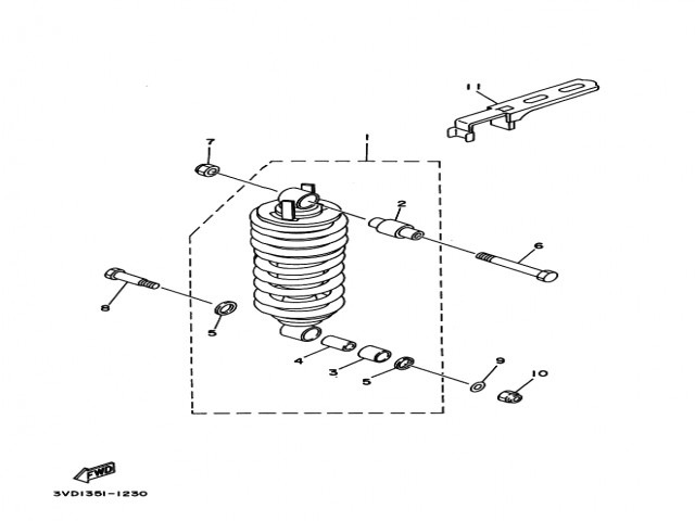 Amortiguador Yamaha Tdm 850 1991-1995