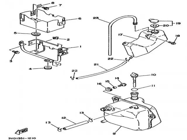 Deposito anticongelante Yamaha Tdm 850 1991-1995