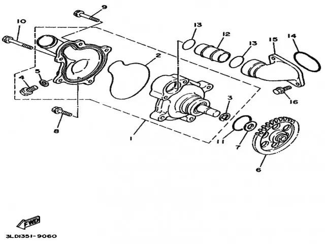 Bomba agua Yamaha Tdm 850 1991-1995