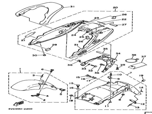 Aleta delantera varios colores Yamaha Tdm 850 1991-1995