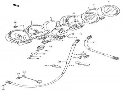 Reloj cuenta vueltas Suzuki Gs e 500 1989-2001